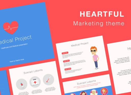 Presentation Templates: Heartful Keynote Presentation Template #07095