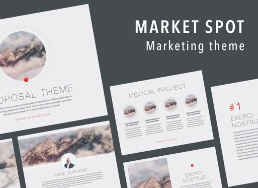 Presentation Templates: Marked Spot Keynote Presentation Template #07097