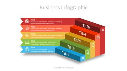 Infographics: Business Steps to Success Diagram #07098