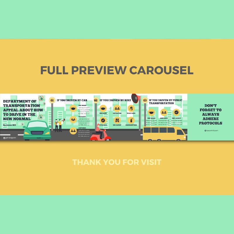 How to drive in the new normal instagram carousel powerpoint template, Slide 3, 07099, Presentation Templates — PoweredTemplate.com