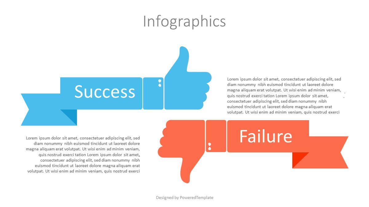 Failure and Success Infographic, 07101, Infographics — PoweredTemplate.com