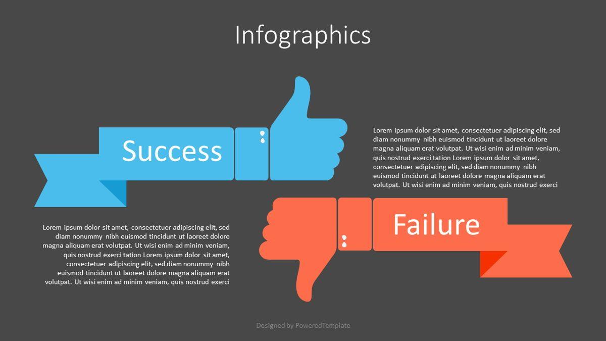 Failure and Success Infographic, Slide 2, 07101, Infographics — PoweredTemplate.com