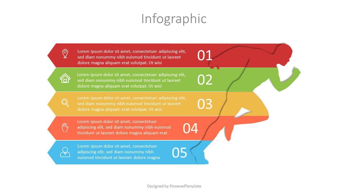Running Man Infographic, 07106, Infographics — PoweredTemplate.com