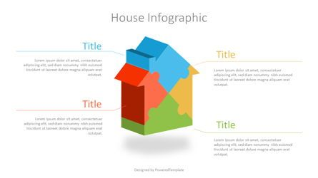 Infographics: Puzzle House Four Piece Volumetric Infographic #07109