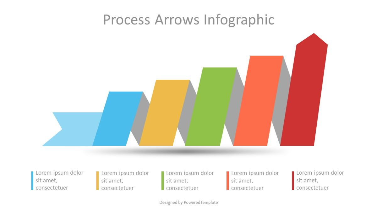 Process Arrow Infographic, 07111, Process Diagrams — PoweredTemplate.com