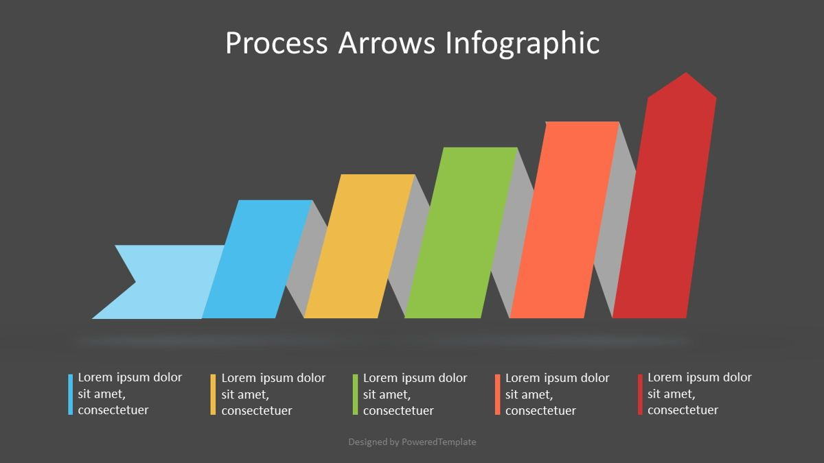 Process Arrow Infographic, Slide 2, 07111, Process Diagrams — PoweredTemplate.com