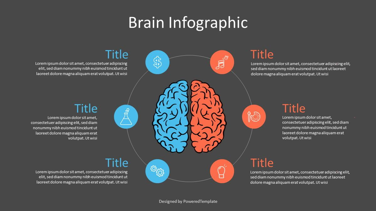 Hemispheres of Brain Infographic, Slide 2, 07112, Infographics — PoweredTemplate.com