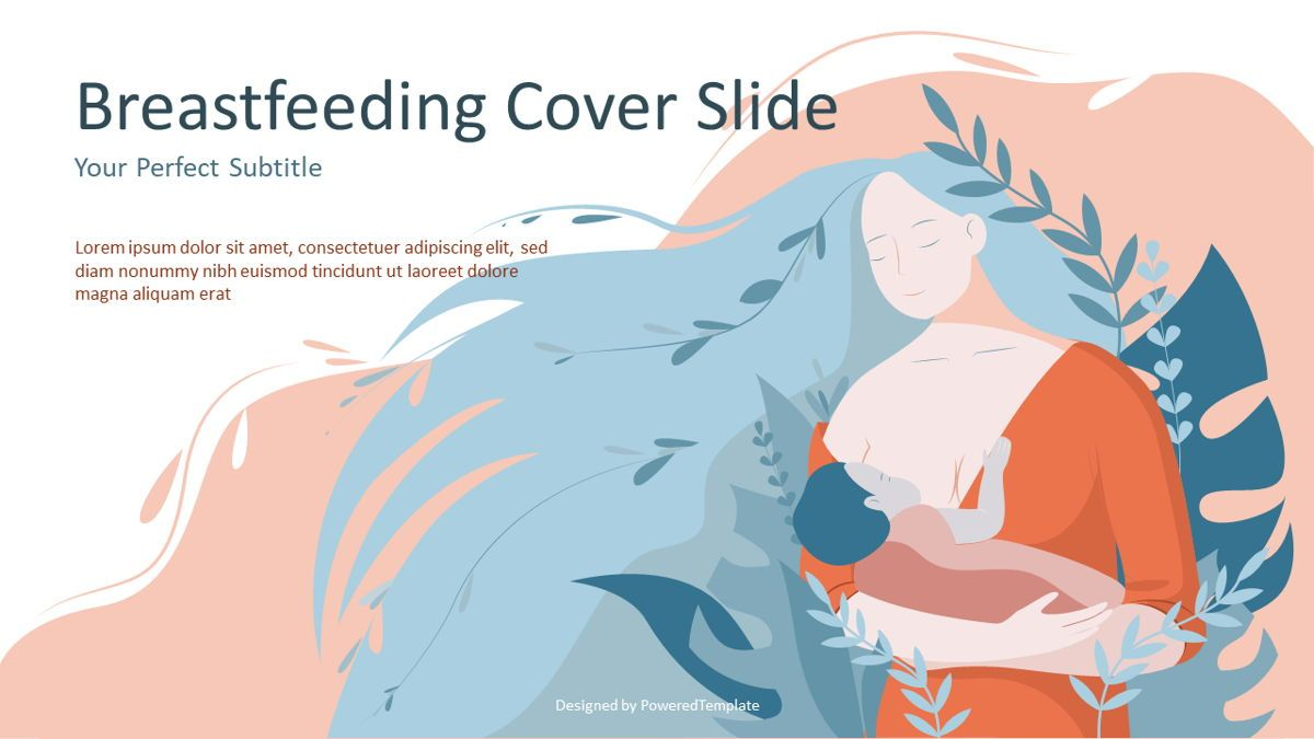 Breastfeeding Cover Slide, 07114, Medical Diagrams and Charts — PoweredTemplate.com