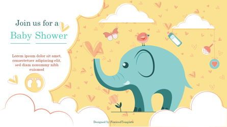 Presentation Templates: Elephant Baby Shower Party Invitation #07115