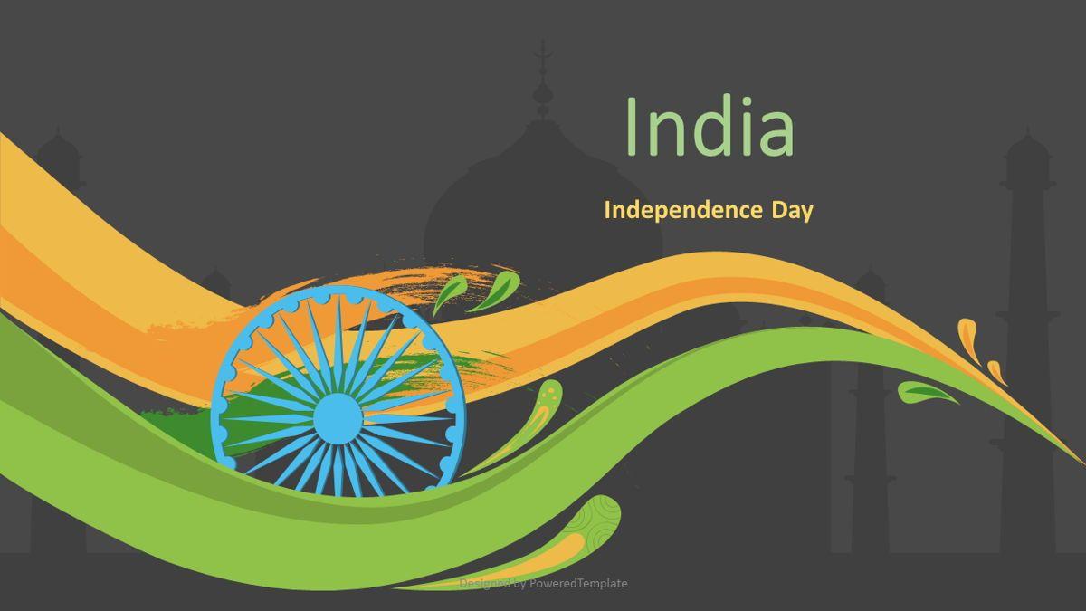 Indian Independence Day Cover Slide, Slide 2, 07116, Presentation Templates — PoweredTemplate.com