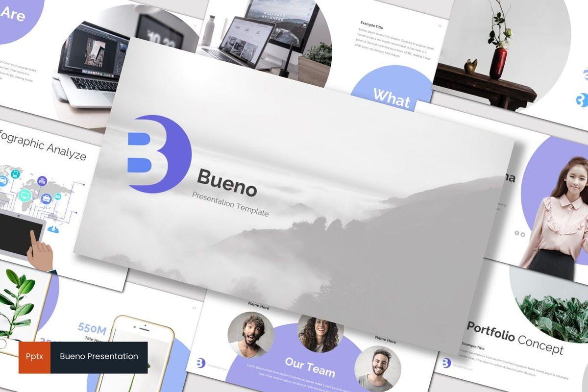 Bueno - PowerPoint Template, 07117, Presentation Templates — PoweredTemplate.com