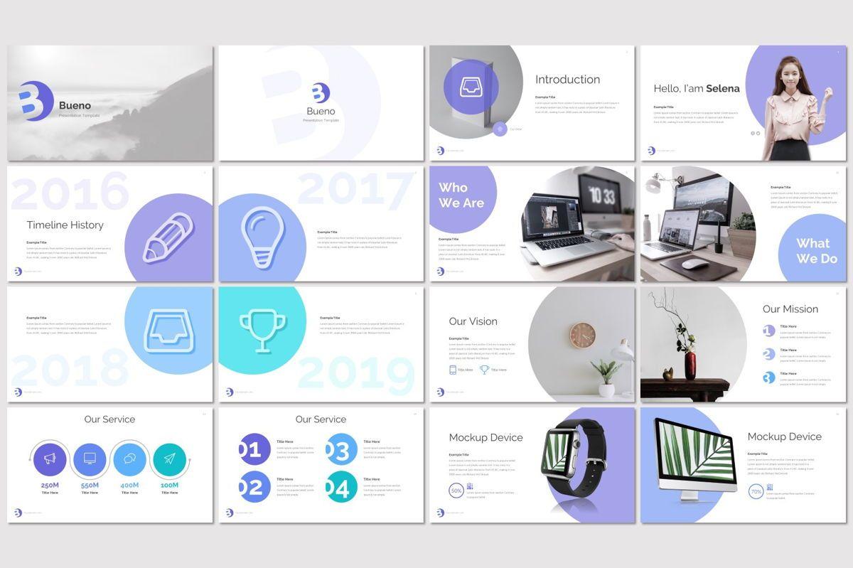 Bueno - PowerPoint Template, Slide 2, 07117, Presentation Templates — PoweredTemplate.com