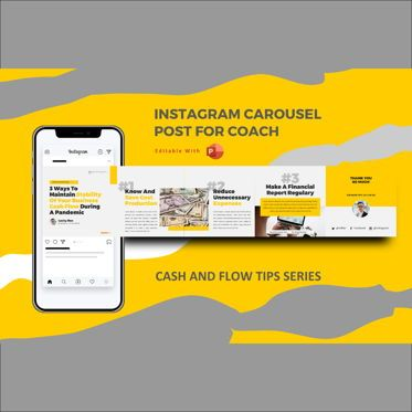 Business Models: Money management during pandemic tips instagram carousel powerpoint template #07119