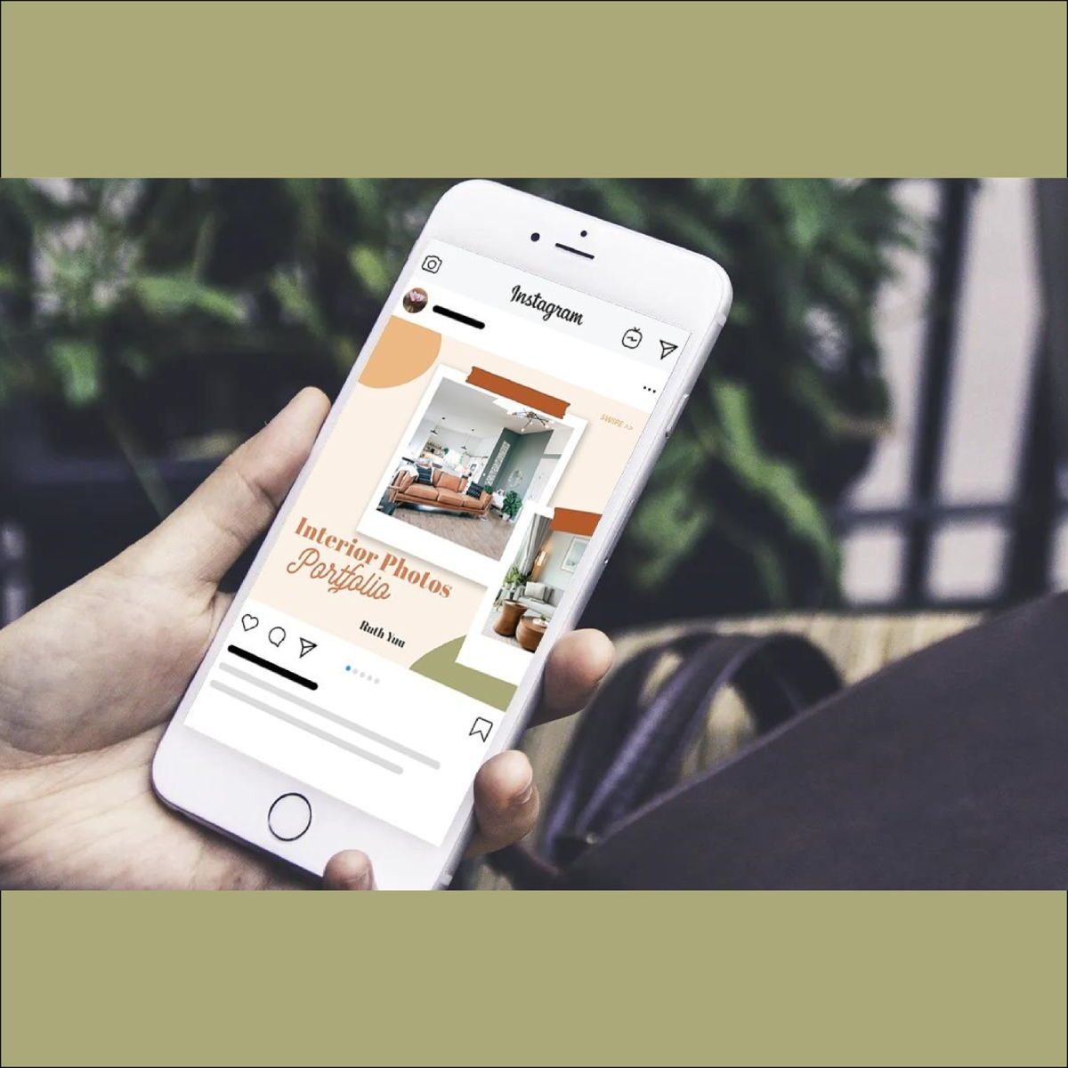 Mini online interior photography portfolio instagram carousel powerpoint template, Slide 2, 07120, Presentation Templates — PoweredTemplate.com