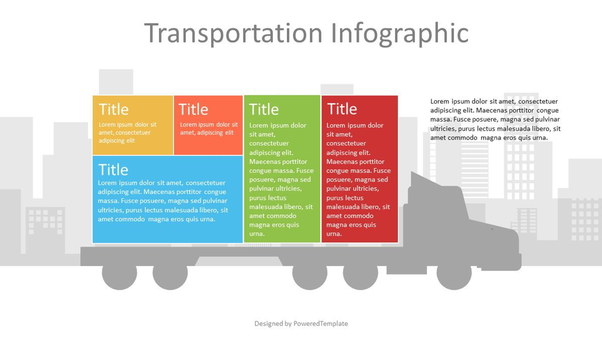Container Truck Infographic, 07123, Infographics — PoweredTemplate.com