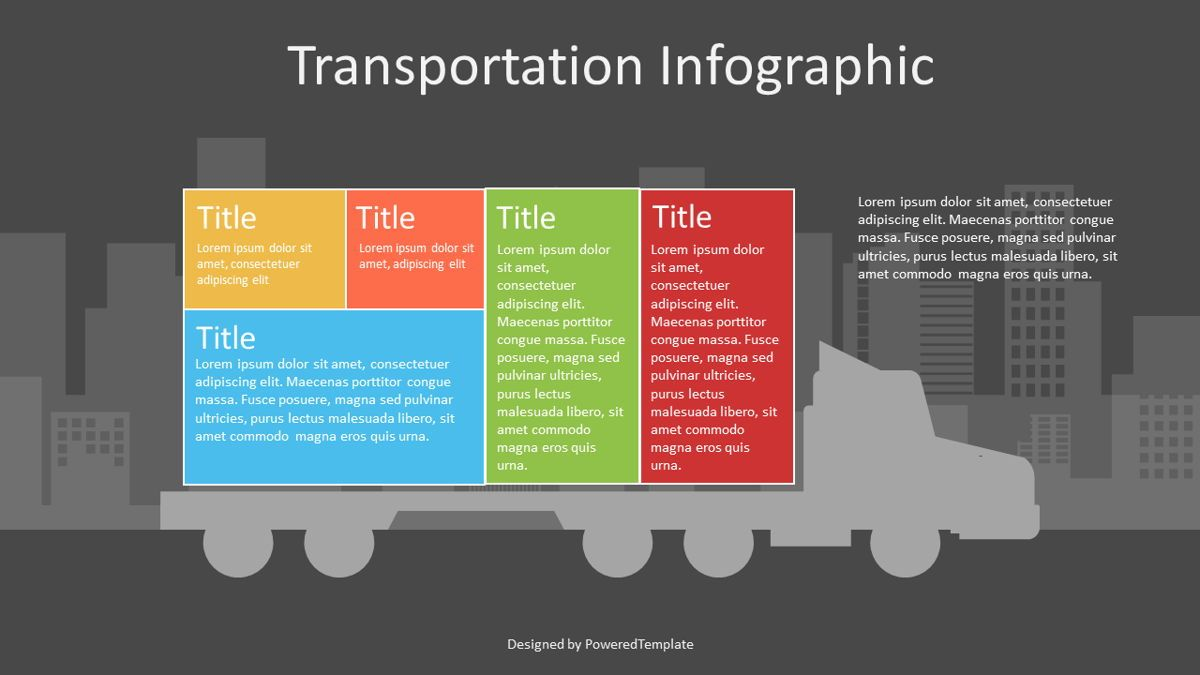 Container Truck Infographic, Slide 2, 07123, Infographics — PoweredTemplate.com