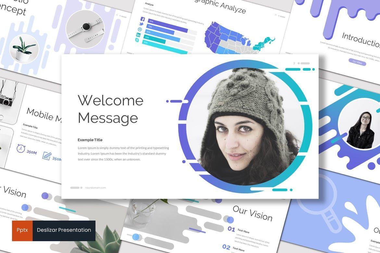 Deslizar - PowerPoint Template, 07125, Presentation Templates — PoweredTemplate.com