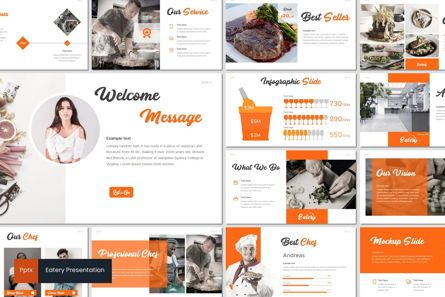 Presentation Templates: Eatery - PowerPoint Template #07126