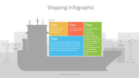 Infographics: Container Ship Infographic #07127