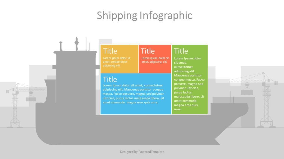 Container Ship Infographic, 07127, Infographics — PoweredTemplate.com