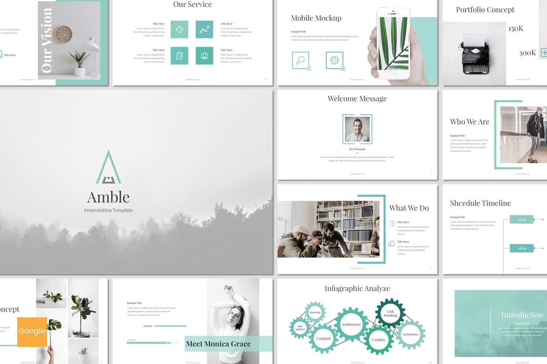 Amble - Google Slides Template, 07128, Presentation Templates — PoweredTemplate.com