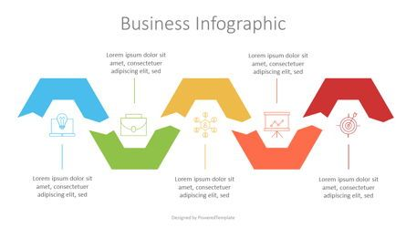 Infographics: Five Step Process with Icons #07129