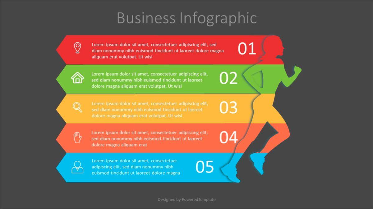 Running Woman Infographic, Slide 2, 07130, Infographics — PoweredTemplate.com