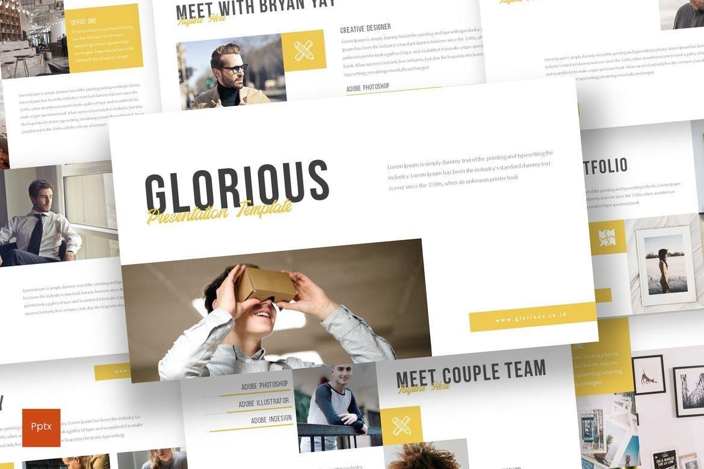 Glorious - PowerPoint Template, 07131, Presentation Templates — PoweredTemplate.com