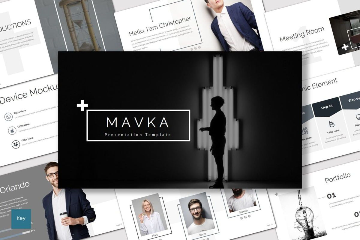 Mavka - Keynote Template, 07135, Presentation Templates — PoweredTemplate.com