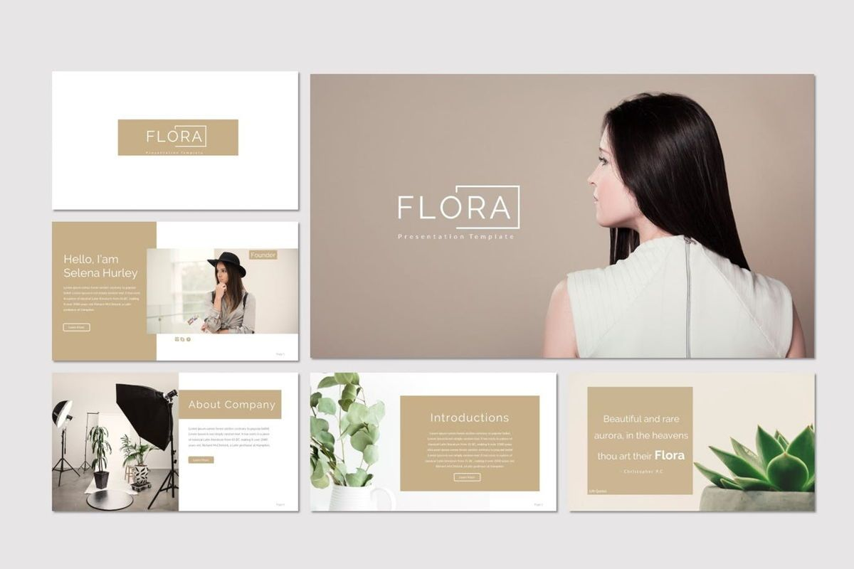 Flora - Google Slides Template, Slide 2, 07136, Presentation Templates — PoweredTemplate.com