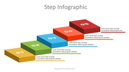 Infographics: Volumetric Colorful Steps Infographic #07137