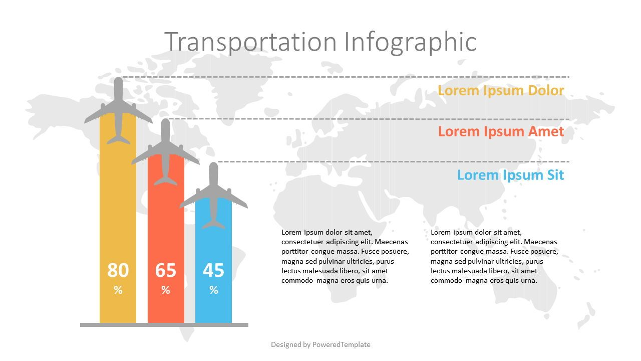 Air Travel Infographic, 07140, Infographics — PoweredTemplate.com