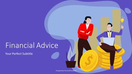 Presentation Templates: Financial Advice Cover Slide #07146