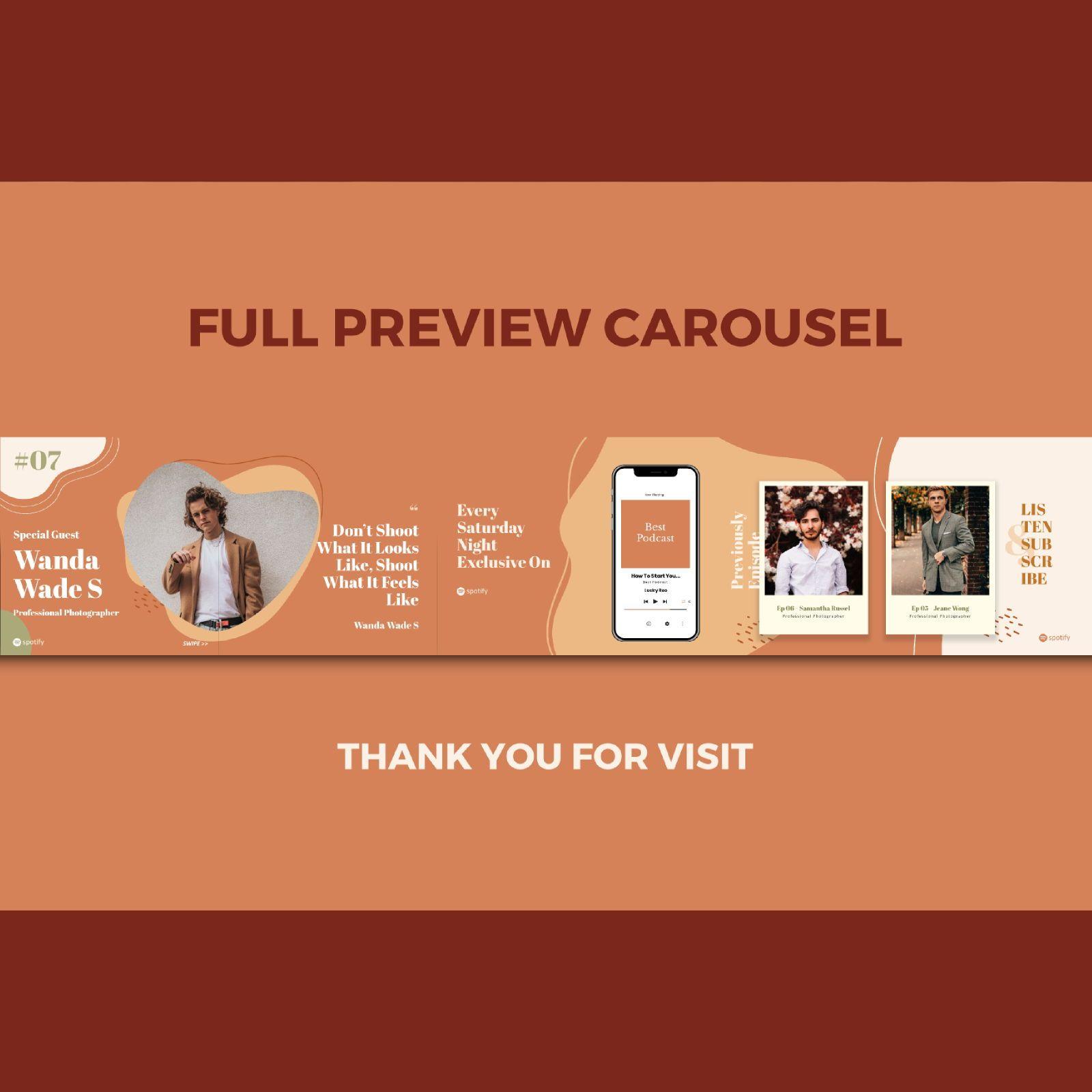 Feminine podcaster instagram carousel powerpoint template, Slide 3, 07149, Presentation Templates — PoweredTemplate.com