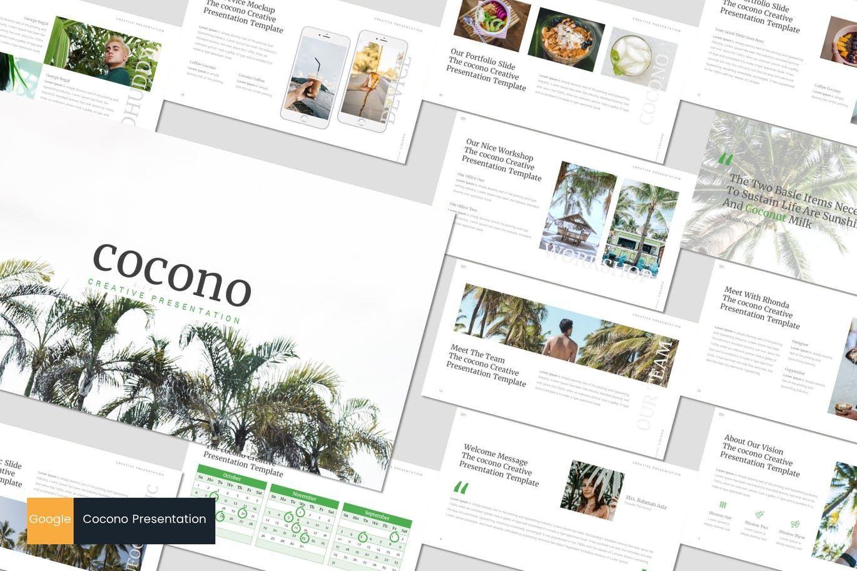 Cocono - Google Slides Template, 07153, Presentation Templates — PoweredTemplate.com