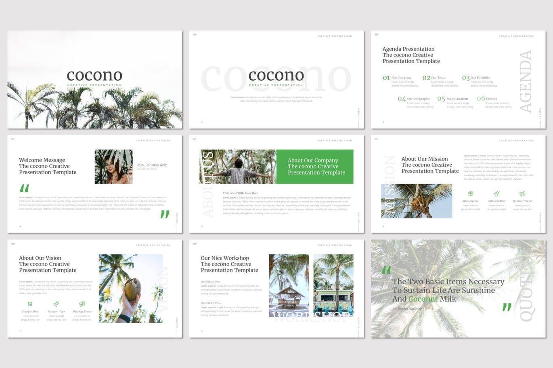 Cocono - Google Slides Template, Slide 2, 07153, Presentation Templates — PoweredTemplate.com