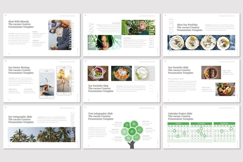 Cocono - Google Slides Template, Slide 4, 07153, Presentation Templates — PoweredTemplate.com