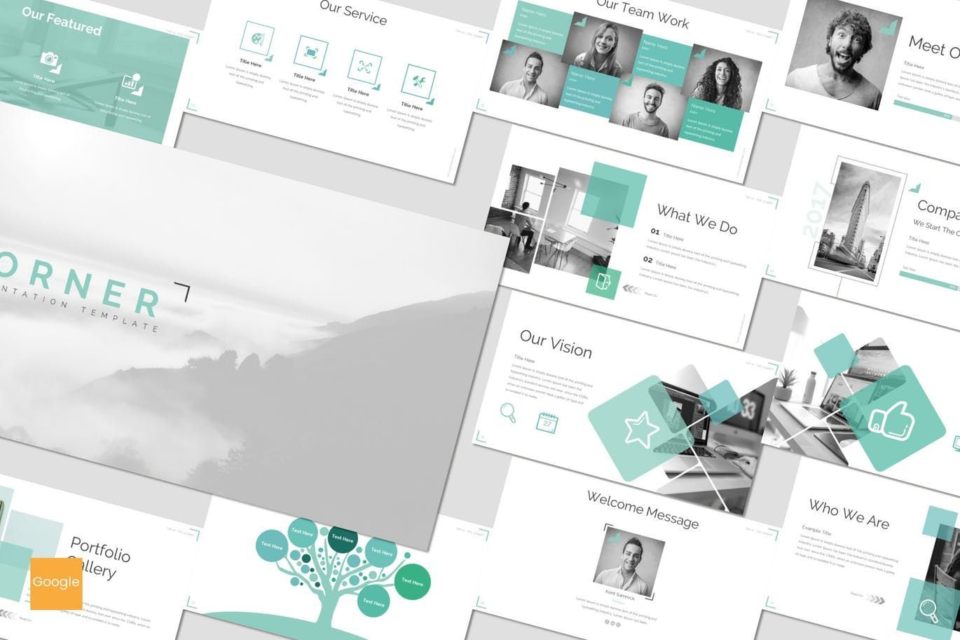 Corner - Google Slides Template, 07155, Presentation Templates — PoweredTemplate.com