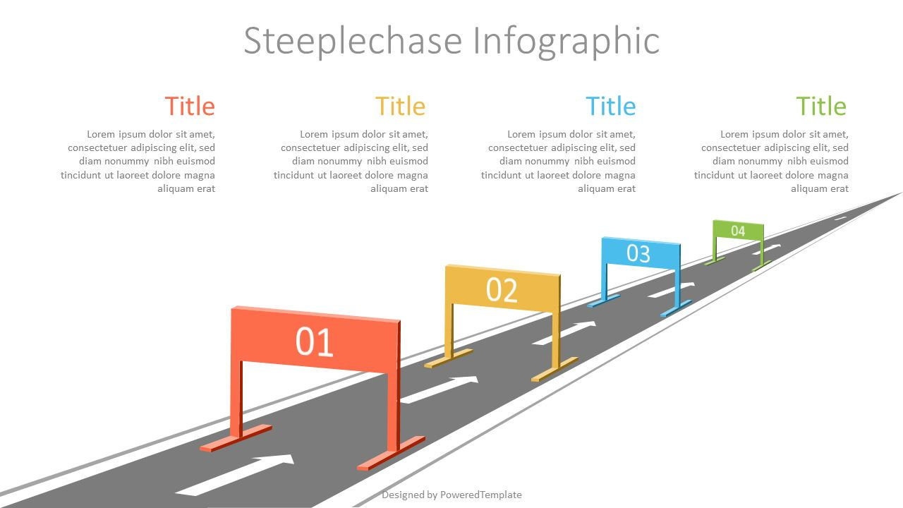 Business Steeplechase Shapes, 07158, Infographics — PoweredTemplate.com