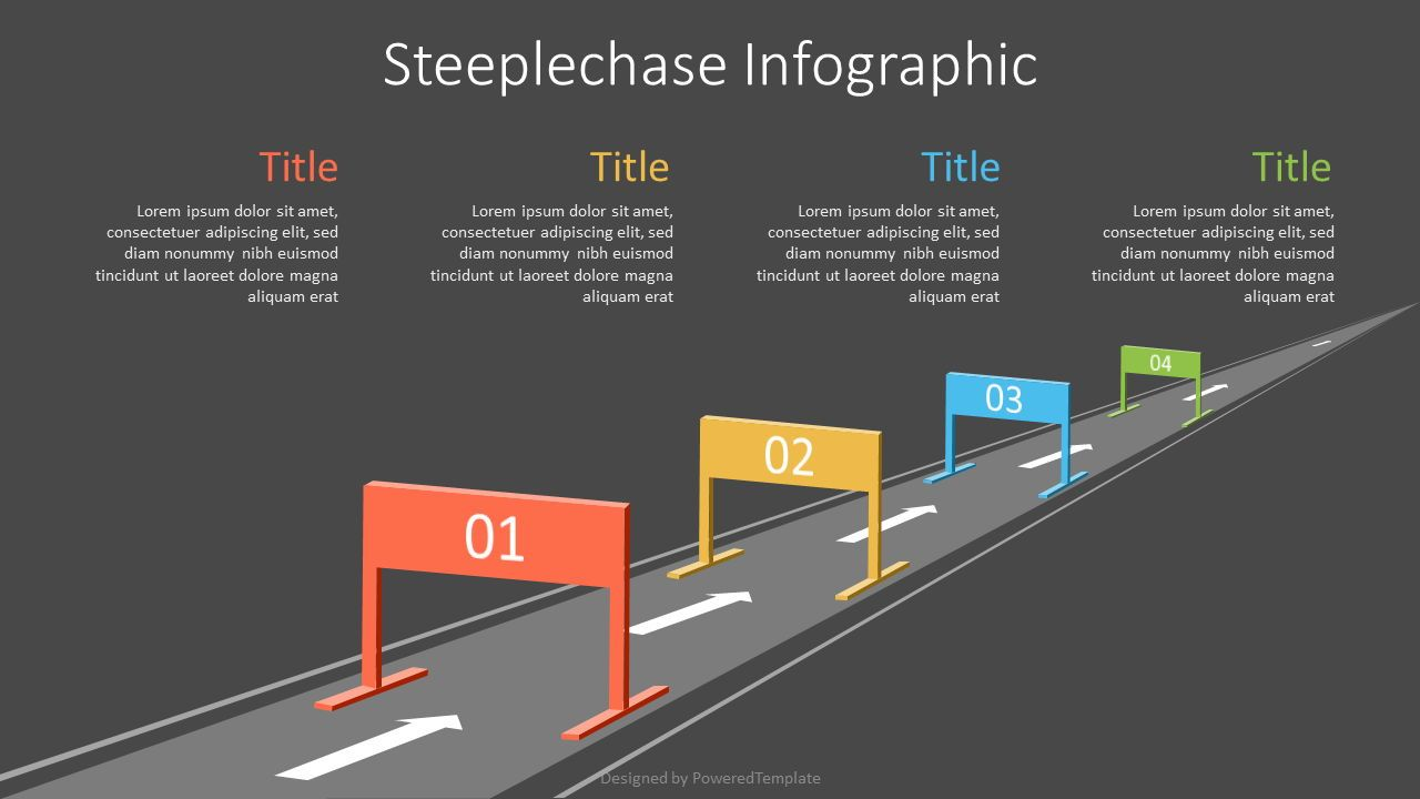 Business Steeplechase Shapes, Slide 2, 07158, Infographics — PoweredTemplate.com