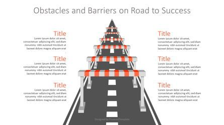 Infographics: Obstacles and Barriers on Road to Success #07162