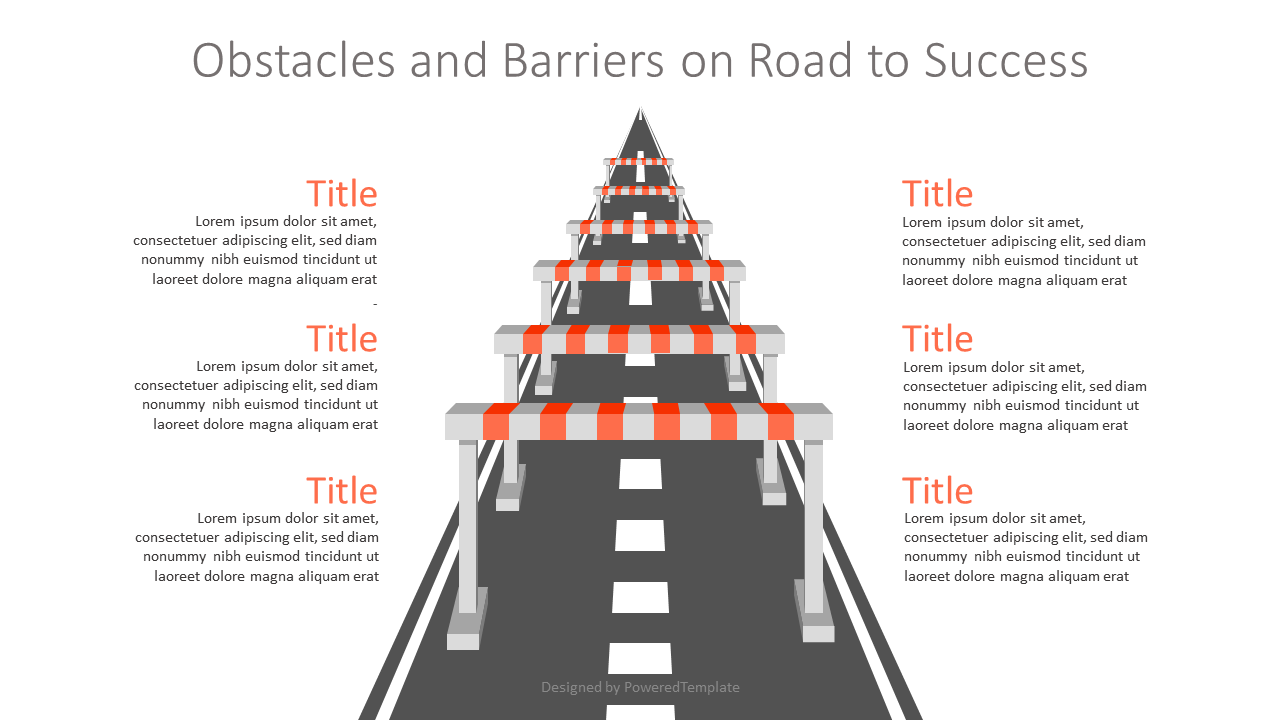 Obstacles and Barriers on Road to Success, 07162, Infographics — PoweredTemplate.com