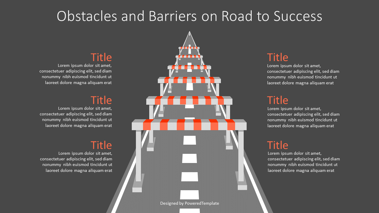 Obstacles and Barriers on Road to Success, Slide 2, 07162, Infographics — PoweredTemplate.com