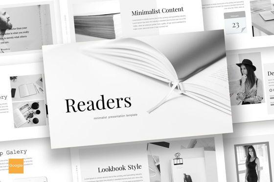 Presentation Templates: Readers - Google Slides Template #07164