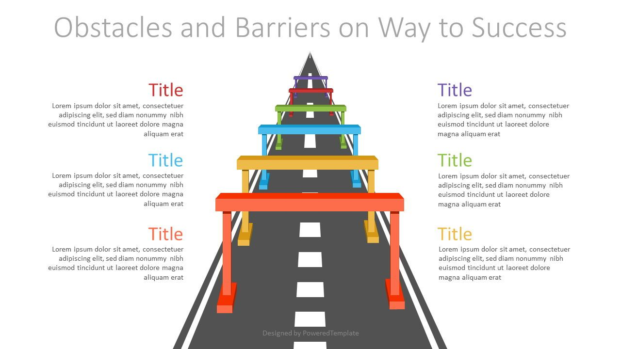 Obstacles and Barriers on Way to Success, 07166, Infographics — PoweredTemplate.com