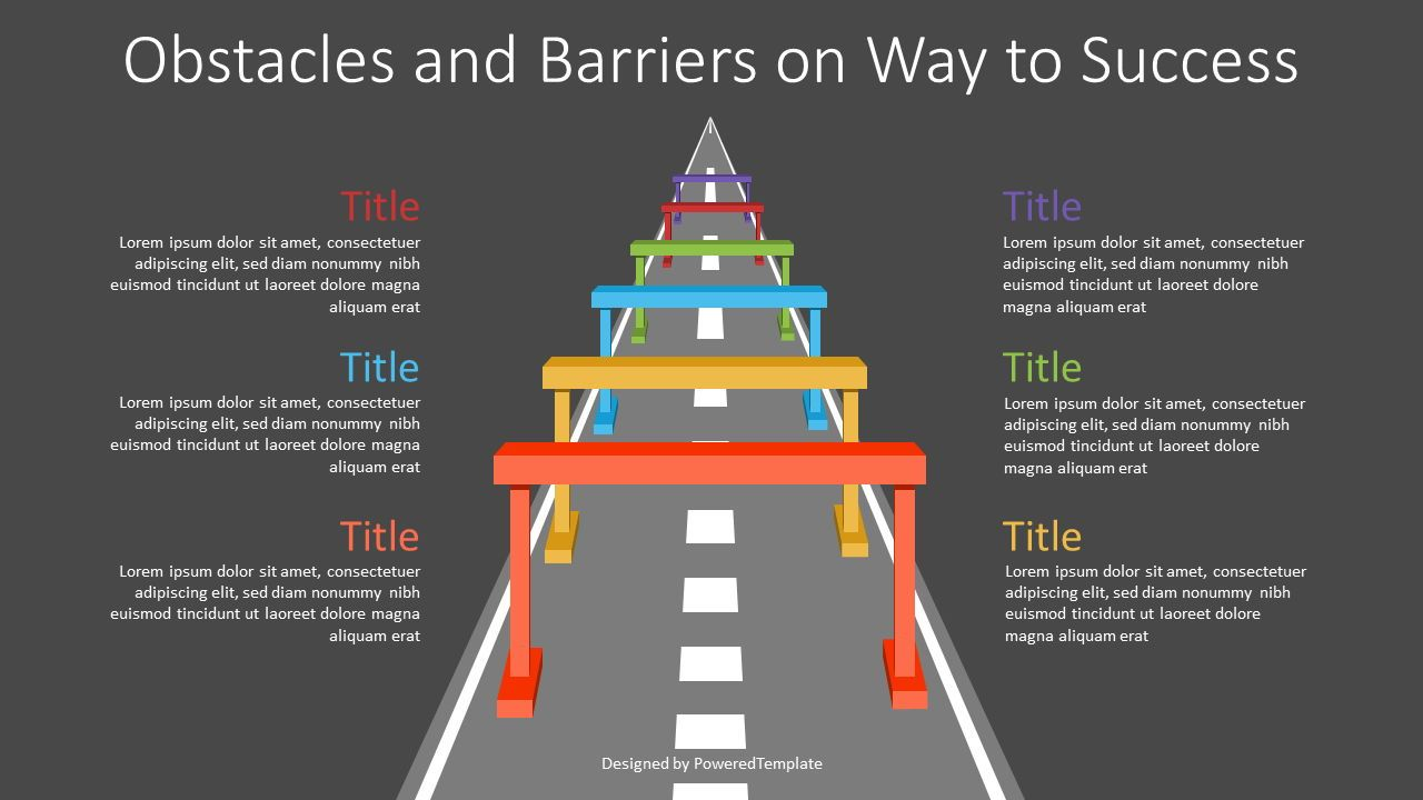 Obstacles and Barriers on Way to Success, Slide 2, 07166, Infographics — PoweredTemplate.com