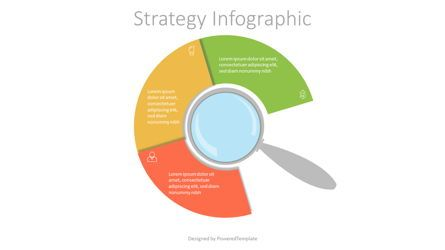 Infographics: Magnifying Glass with 3 Circular Options #07169