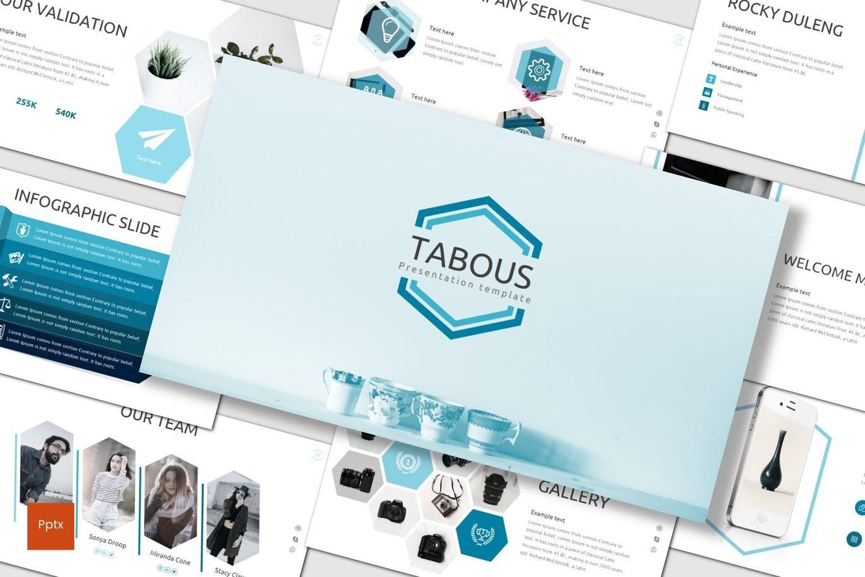 Tabous - PowerPoint Template, 07170, Presentation Templates — PoweredTemplate.com