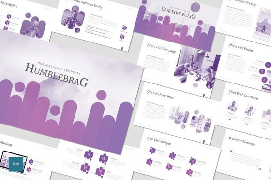 Presentation Templates: Humblebrag - Keynote Template #07172