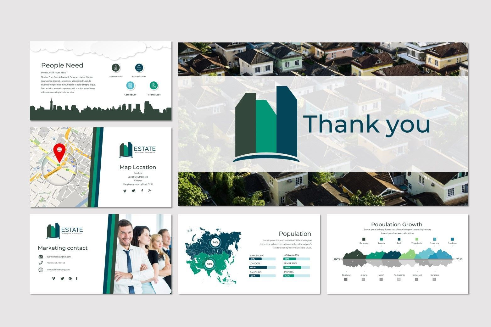 Estate - Google Slides Theme, Slide 5, 07175, Presentation Templates — PoweredTemplate.com